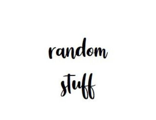 RANDOM STUFF #1