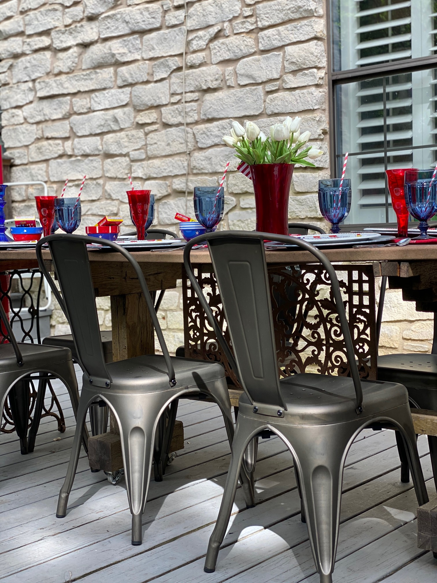DIY Decorating for July 4th Table