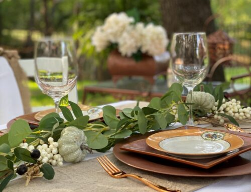 Outdoor Fall Table With Linen Runners …